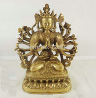 ทองแดงสิบแปดแขนเสมือนพูดถึงรูปปั้นพระพุทธรูป