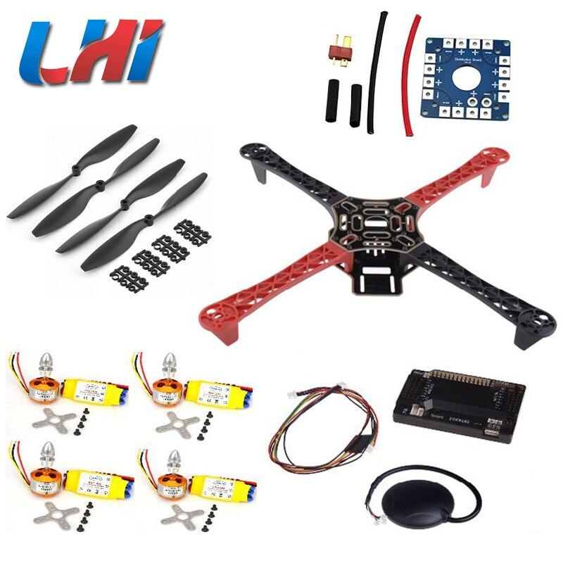 Quadrotor f450 estante caliente kit Marcos apm2.6 y 6 m GPS 2212 1000kv 30a 1045 prop ~ f4p01 quadcopter