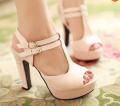 Big Size 43 Gladiator Square 12 cm High Heels Platform Open Toe Women's Sandals pumps Vintage Design Summer Shoes women C687