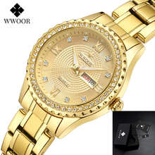 WWOOR 2019 Rose Gold Watch Women Quartz Watches Ladies Top Brand Luxury Female Wrist Watch Girl Clock Relogio Feminino wwoor women watches top brand luxury stainless steel mesh band gold casual watch ladies business quartz watch relogio feminino