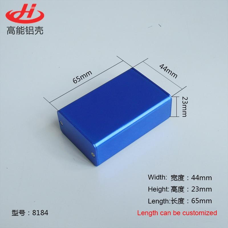 1 шт. синий цвет алюминиевый корпус Корпус для Электроника случае проект 23 (h) X44 (Ш) x65 (L), мм 8184