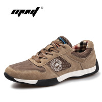 Genuine Leather With Mesh Men Casual Shoes New Arrive Leather Men Shoes High Quality Outdoor Shoes