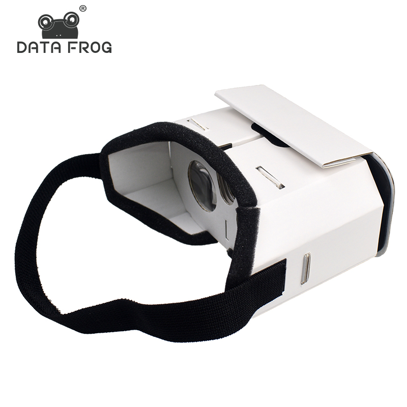 Data Frog DIY Portable Virtual Reality Glasses Google Cardboard 3D Glasses VR Box For SmartPhones For Iphone X 7 8 VR(China)
