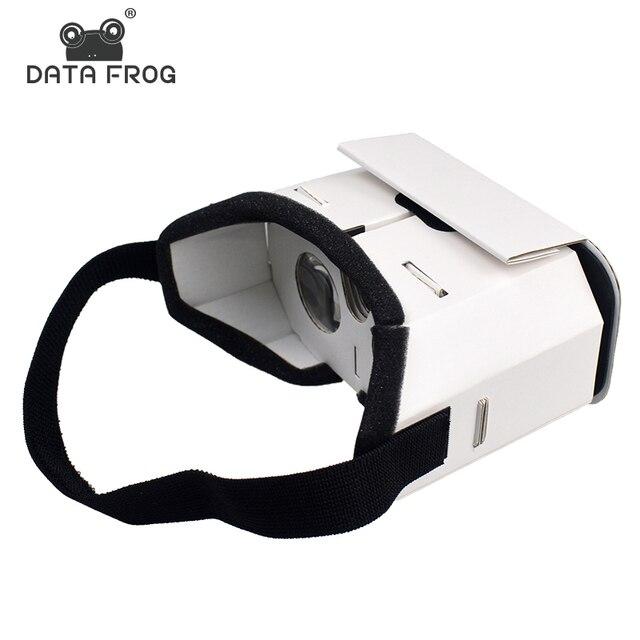 655827921 البيانات الضفدع DIY المحمولة نظارة الواقع الافتراضي جوجل كرتون 3D نظارات  نظارة واقع افتراضي للهواتف الذكية