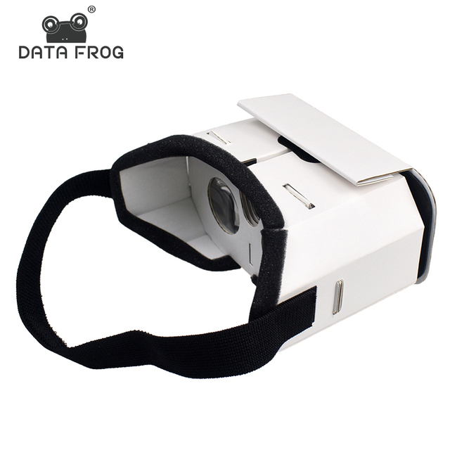 Dados Sapo DIY Portátil Caixa de Óculos de Realidade Virtual Óculos Google Papelão 3D VR Para SmartPhones Para O Iphone X 7 8 VR