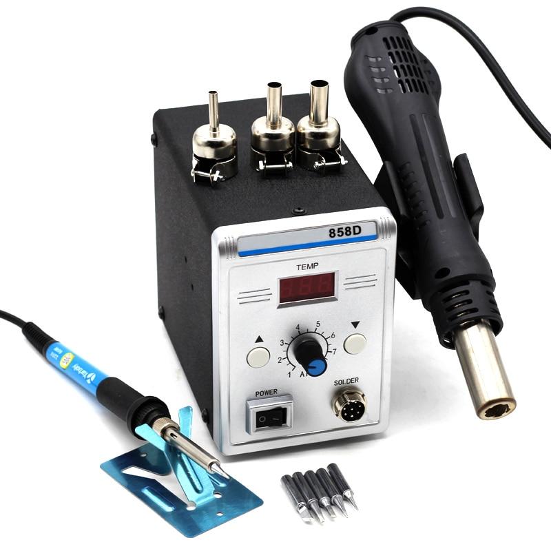Yarboly 858D Portable Heat Hot Air Gun BGA Rework Solder Station With 220V 60W Temperature Adjustable