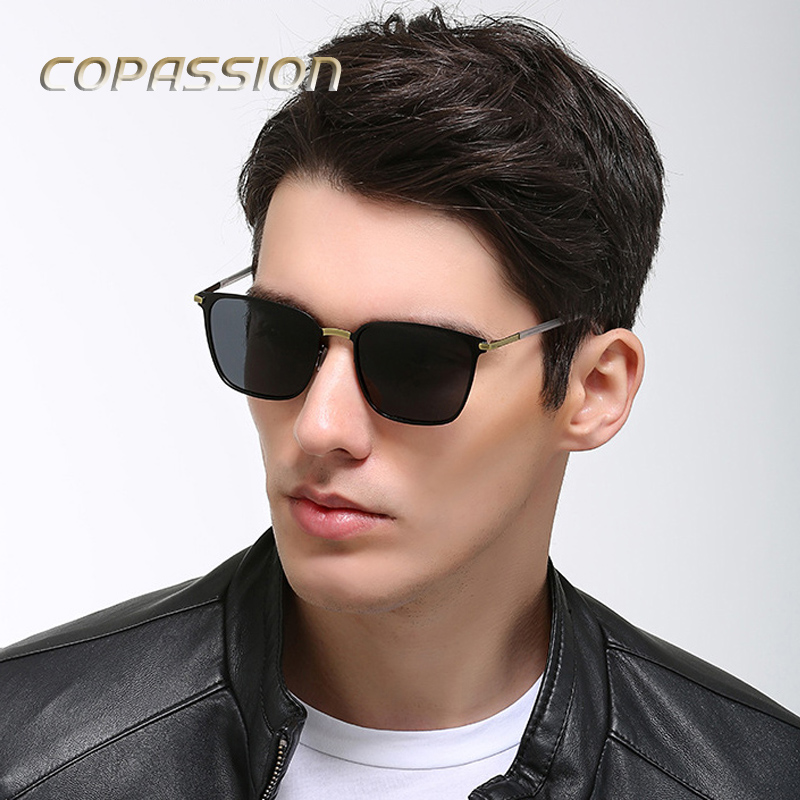 Retro Square Polarized Sunglasses Men Women brand designer Vintage uv400 Eyewear driving glasses mens sun glasses oculos de sol