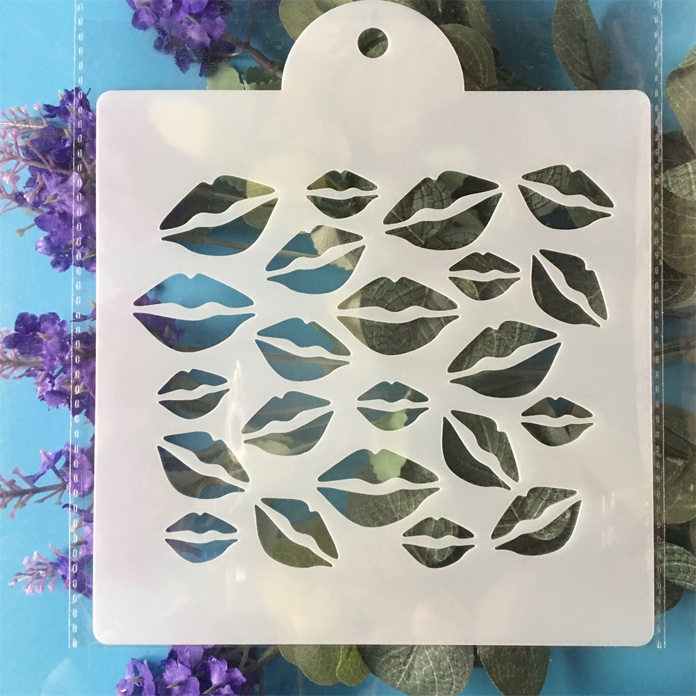 15cm Lip DIY Layering Stencils Painting Scrapbook Coloring Embossing Album Decorative  Template| |   - AliExpress