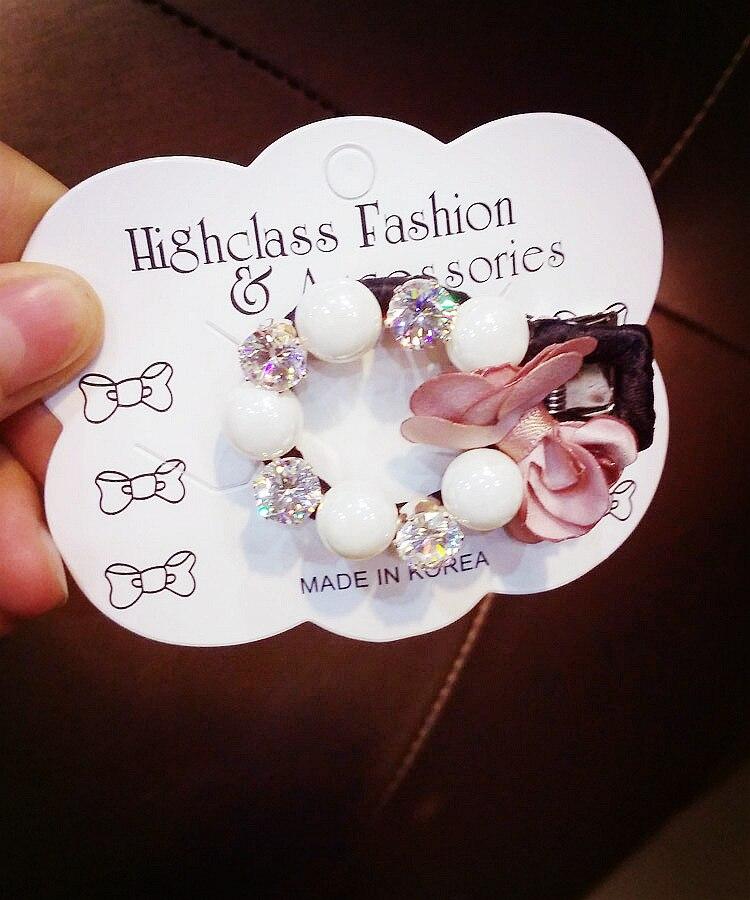 Korea Camellia Alloy Diamond Hair Accessories Weave Hair Bows Rim Hairpin Hair Clips For Women Headbands For Girls Barrette -4