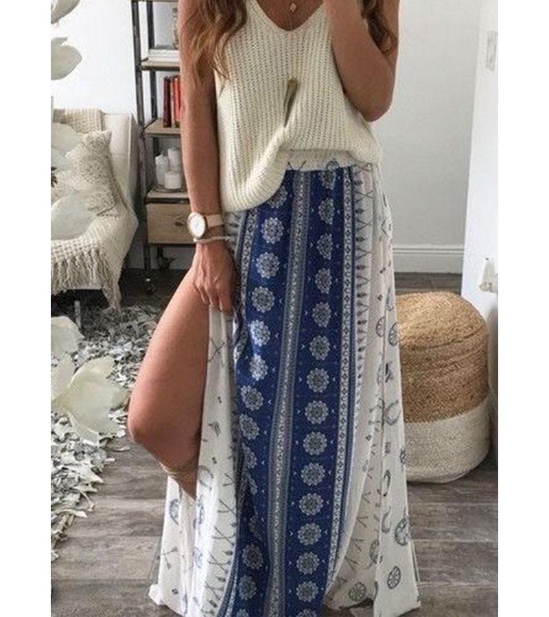 343dc833eb New 2016 Summer Cheap Casual Clothes Cheap Chiffon Fashion Bohemian Skirts  Ethnic Style Clothing Thai Style Skirt Printing