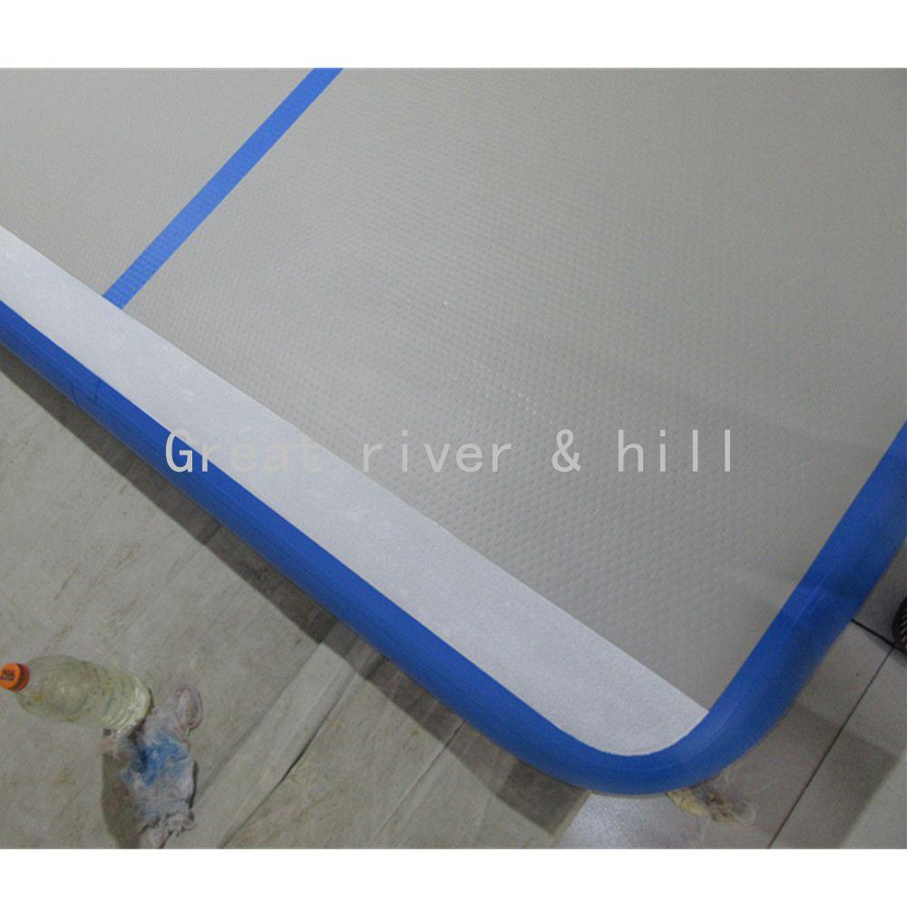 Купить с кэшбэком 2017 tumbling mats gymnastics 5m x1m x10cm air floor inflatable gymnastics mats for home with free hand pump
