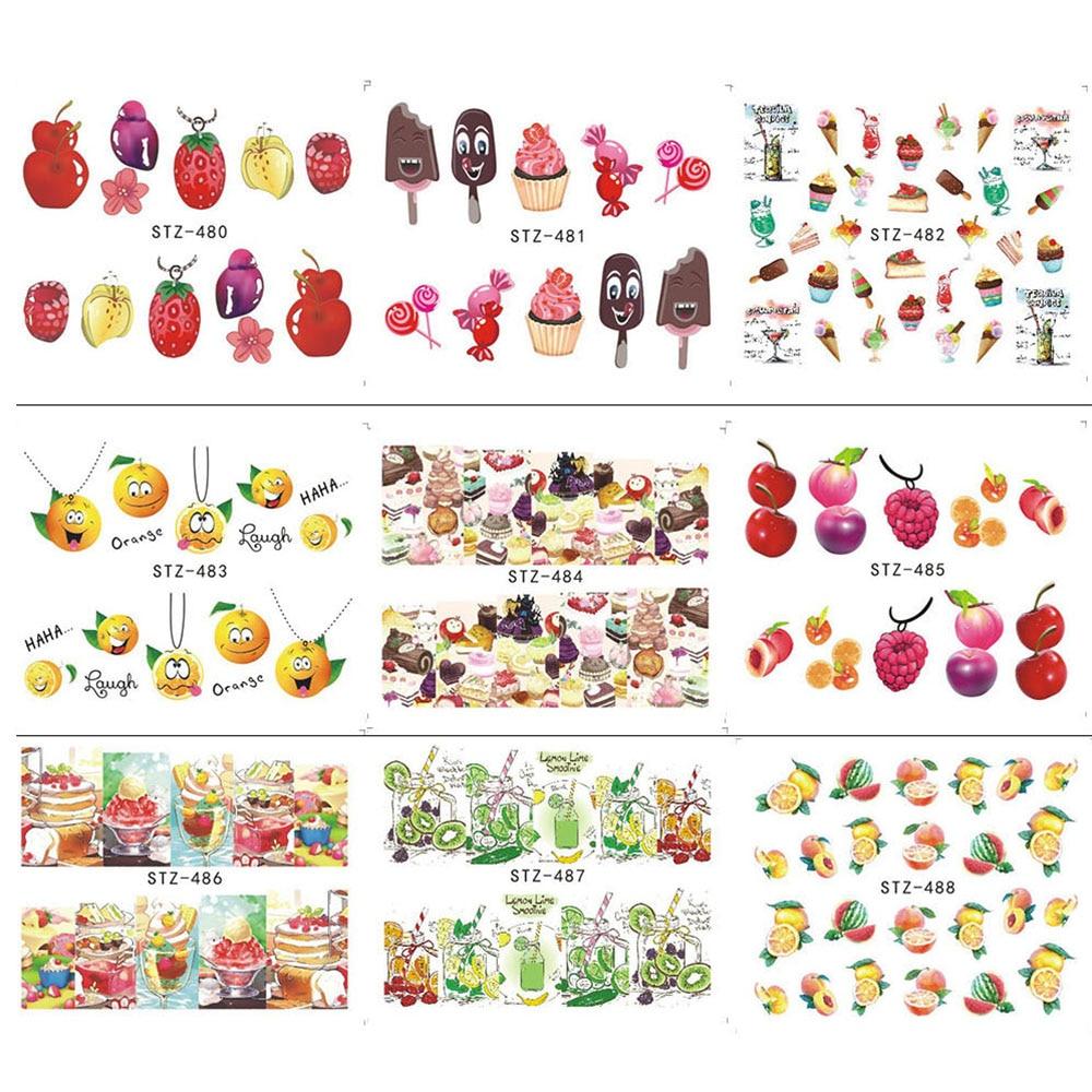 1 x Nagelkunstaufkleber Wasser Abziehbilder Eis/Obst Kirsche ...