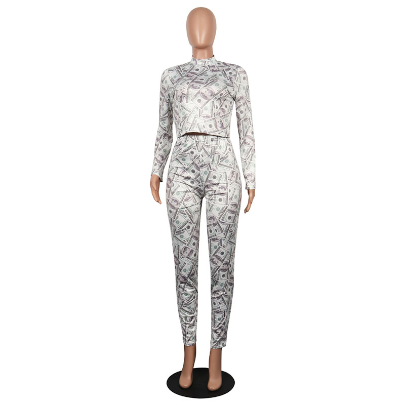 Bonnie Forest Money Moves Legging Set Two Pieces Plus Size Fashion Womens  Long Sleeve Crop Tops Pants Set Sporty Suits Outfits-in Women s Sets from  Women s ... 451b7ff568d3