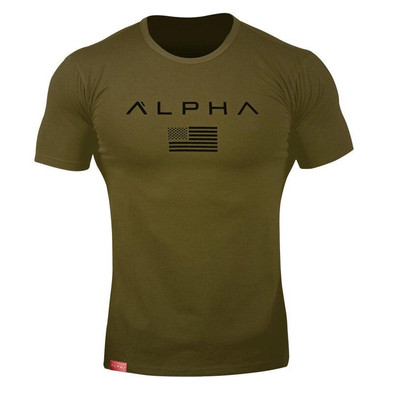 alpha t shirt green