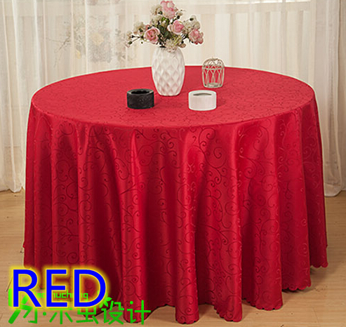 Red Jacquard Round Table Cloth,polyester Damask Pattern Table Cover For  Wedding,hotel And Restaurant Round Tables Decoration In Tablecloths From  Home ...