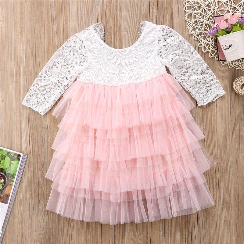... pudcoco 0-5Y Lace cake tutu luxuriant Girls Kids Wedding Flower Girl  Dress Princess Party ... a98b3a05d054