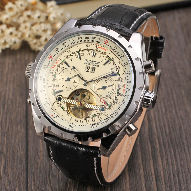 Forsining Automatic Self-wind Dress Men Watches with Analog Date Display Round Dial Mechanical Wristwatches tevise men automatic self wind gola stainless steel watches luxury 12 symbolic animals dial mechanical date wristwatches9055g