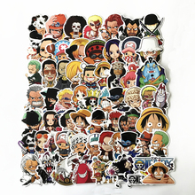 TD ZW 61Pcs/Lot One Piece Stickers Decal For Snowboard Laptop Luggage Car Fridge Car- Styling Sticker Pegatina 75pcs waterproof sailor moon stickers decal for for snowboard laptop luggage car fridge car styling sticker pegatina