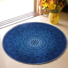Round Children's Carpet 5 mm Anti-slip Chair Mats Voiceless Bed Side Area Rug to Bedroom Cartoon Doormat Rugs for Home Decor(China)