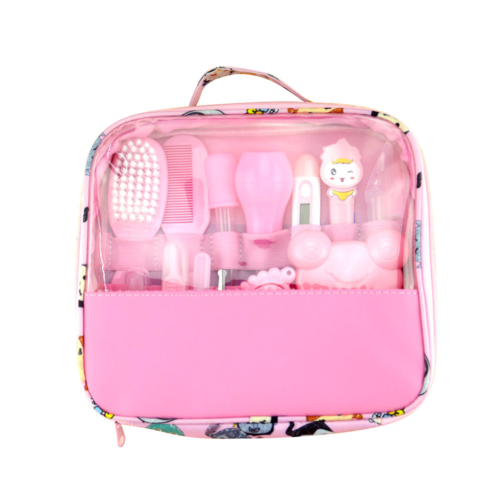 13pcs/Set Multifunction Newborn <font><b>Baby</b></font> Kids Nail Hair <font><b>Health</b></font> <font><b>Care</b></font> Thermometer Grooming Brush Kit Healthcare Accessories Drop ship image