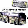 1:48 сплава моделей автобусов, military logistics service bus, металл diecasts, toy транспорт, вытяните назад и мигать и музыкальные, бесплатная доставка