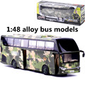 1:48 alloy bus models,military logistics service bus, metal diecasts,toy vehicles, pull back & flashing & musical,free shipping