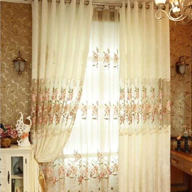 French Style Elegant Curtain For Living Room Home Decoration
