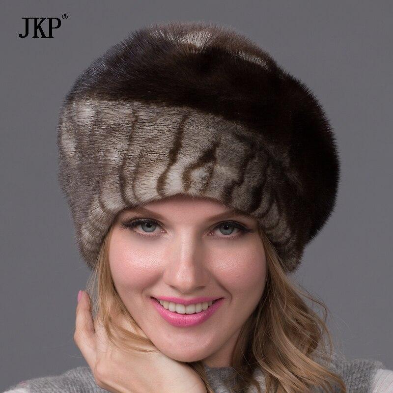 Toute vison de la peau chapeau de fourrure de mode chaud élégant dames vison chapeau en Europe et en Amérique DHY-43