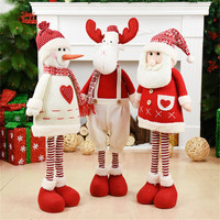 Weding Decoration Red Figures Merry Christmas Table Decor New Year Birthday Gift Retractable Standing Doll Christmas Presents