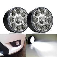 2Pcs Car Highlight LED Daytime Running Light Fog Truck Motorcycle Lights DRL Car-styling White Waterproof