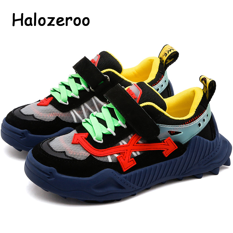 Autumn Kids Sport Sneakers Baby Girls Genuine Leather Casual Sneakers Children Chunky Sneakers Boys Black Brand Shoes Trainers
