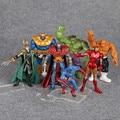 Superheroes Juguetes Avengers Iron Man Capitán América Hulk Loki La Cosa PVC Figuras de Acción 13 cm 7 unids/set HRFG474