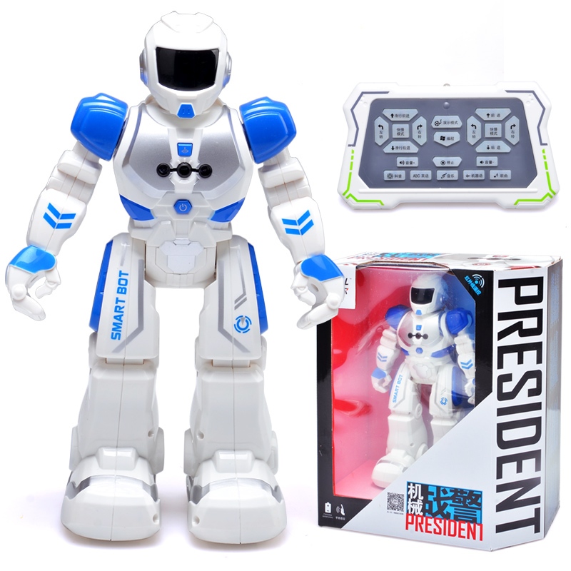 RC Smart Robot Alpha Intelligent Bot Remote Control Walking Space Robots With light&Sound& Music Electronic Hobby Toys For Kids electronic nose for robots