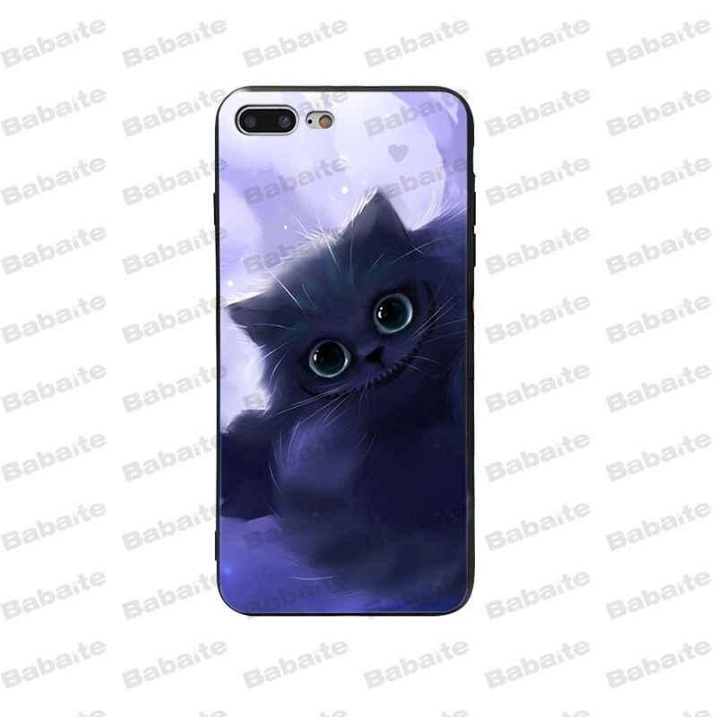 Babaite أليس في بلاد العجائب شيشاير القط رقيقة جدا الكرتون جراب هاتف ل ابل اي فون 5 5S SE 6 6S زائد 7 8 X XS ماكس XR غطاء