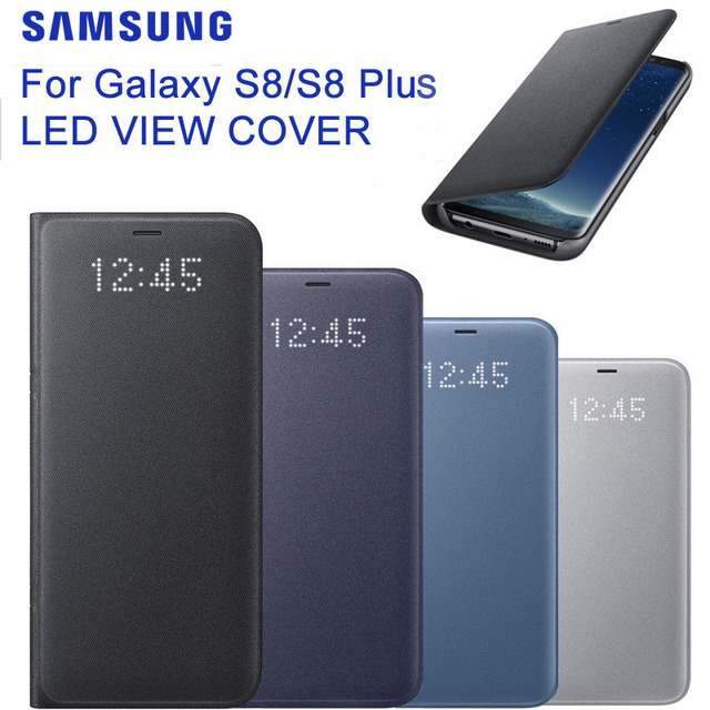 sale retailer b29c7 b1021 US $36.86 10% OFF|SAMSUNG Original LED View Cover Smart Cover Phone Case EF  NG955 for Samsung Galaxy S8 S8+ S8 Plus S8+ Sleep Function Card Pocket-in  ...
