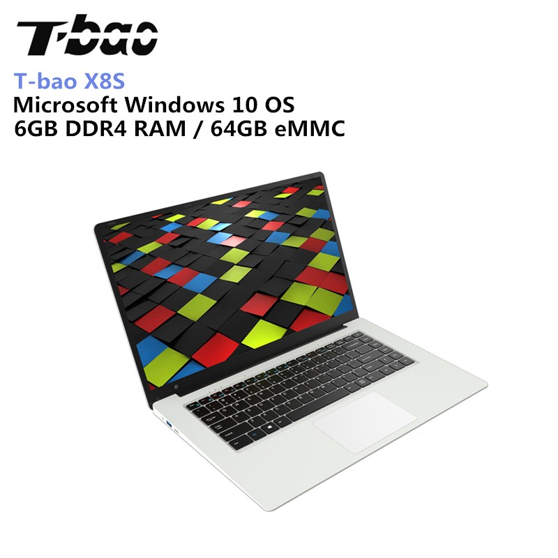 T-bao X8S Laptops 1080P FHD Screen 15.6 inch 6GB DDR4 RAM 64GB EMMC Intel Celeron N3450 Wifi Computer Laptop Notebook computador