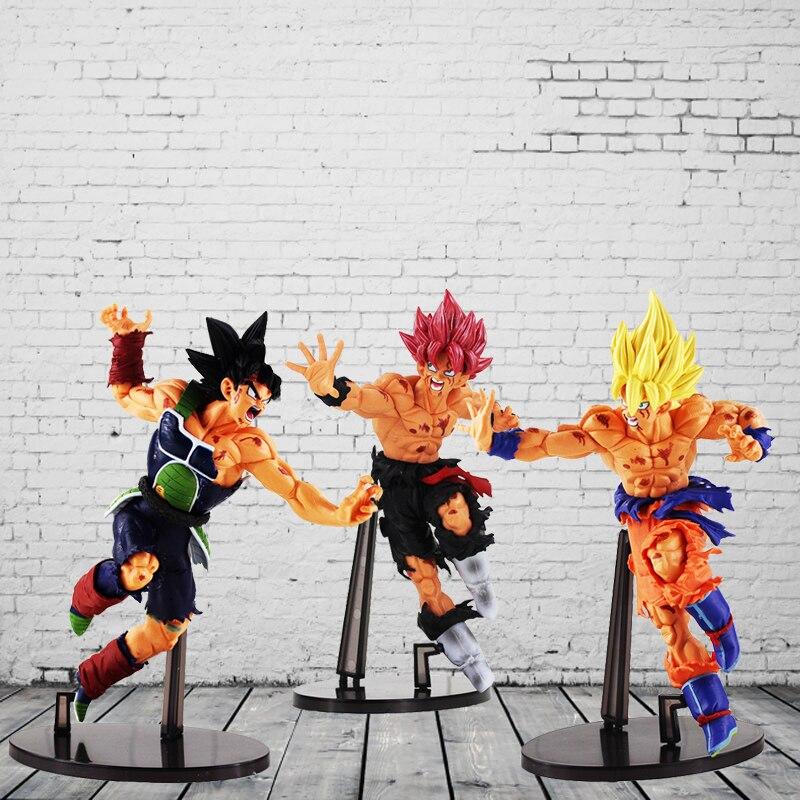 22CM Dragon ball Z SCultures BIG ZOKEI TENKAICHI BUDOKAI #5 Super Saiyan Son Goku Bardock PVC action Figure Toy