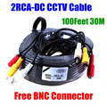 30M 100feet Audio Video Camera Cable RCA Power AV CCTV Cable For CCTV Camera Security Surveillance