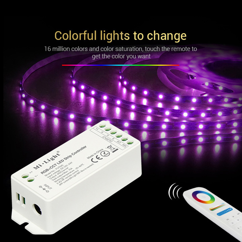 Mi Light Fut092 2.4ghz Rgbww 4-zone Group Control Match Rf Rgb+cct Remote Controller For Milight Led Rgb+cct Lamps Series Lighting Accessories
