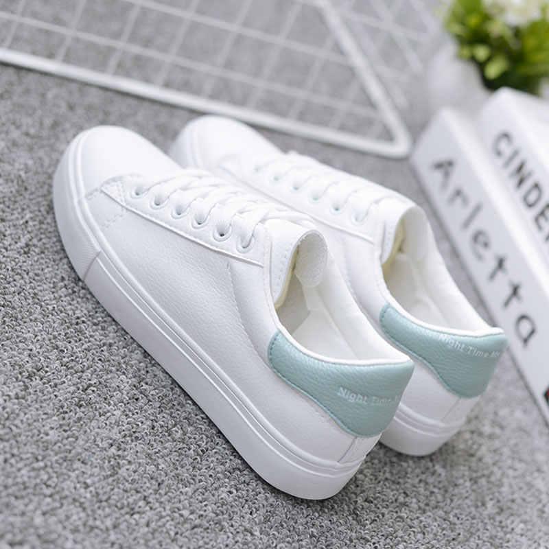 BODENSEE beyaz ayakkabı kadın kanvas ayakkabılar kadın moda vulkanize ayakkabı yaz rahat Zapatillas Mujer artı boyutu 35-42