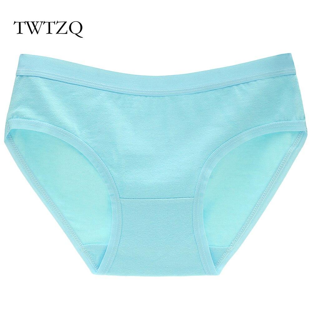 Buy TWTZQ Underwear Women Panties Cotton Briefs Mid-Waist Solid Lingerie Breathable Ladies Underpants Female Calcinha J3NK082