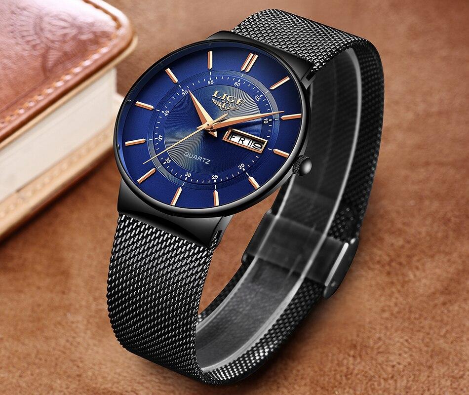 HTB12ezNX.GF3KVjSZFoq6zmpFXaA Mens Watches LIGE Top Brand Luxury Waterproof Ultra Thin Date Clock Male Steel Strap Casual Quartz Watch Men Sports Wrist Watch