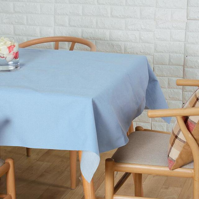 Beau Free Shipping Solid Color Tablecloths Cotton Linen Tablecloth Rectangular Table  Cloth Unique Table Cover Manteles