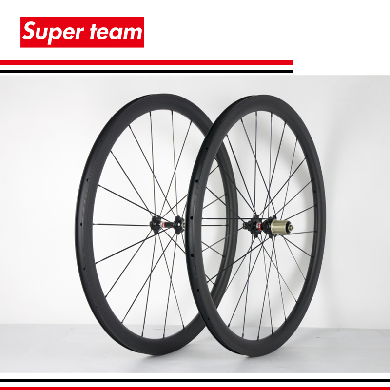 OEM Carbon fiber wheelset tubeless 25mm cycle wheels 700C 38mm road bike wheels 3K matte
