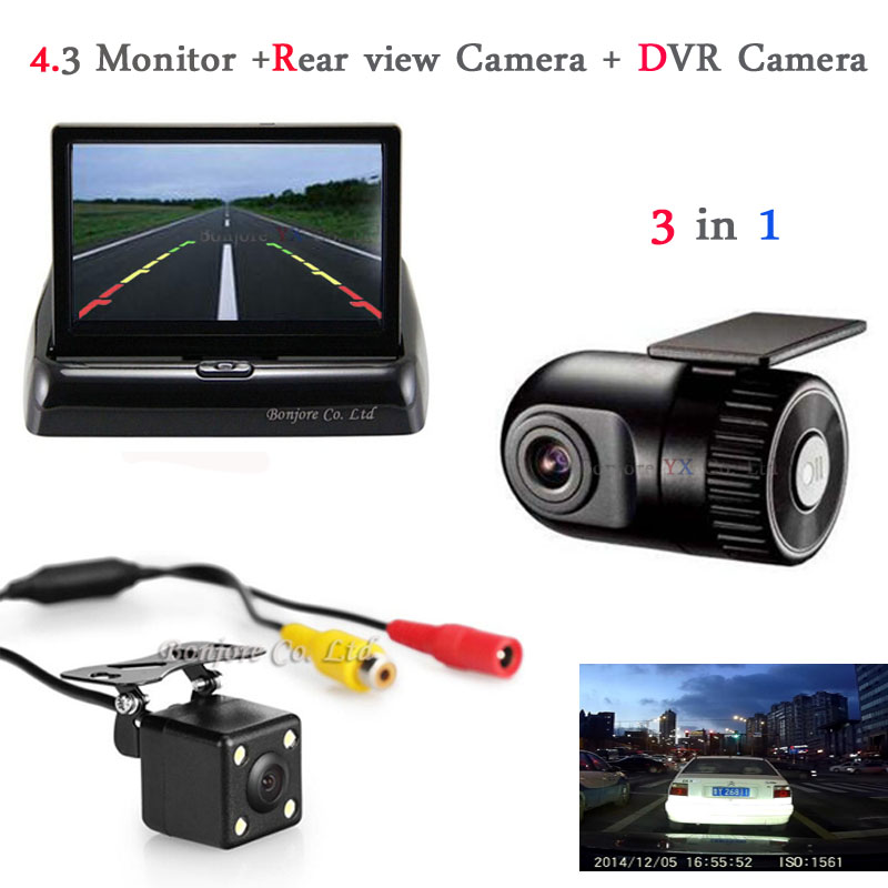 цена на Auto Rearview mirror with Car DVR Camera Dashcam Hidden Car DVR Recorder car Rear view camera Radar Parking 2 camera For Car