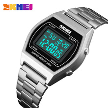 SKMEI Ladies Fashion Watches Outdoor Sport Luxury Alloy Digital Watch Strap Business Relogio12/24 Hours Relogio Feminino Digital