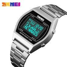 SKMEI-montre-bracelet numérique pour femmes, mode Sport en plein air, de luxe, en alliage, numérique, Business, 12/24 heures