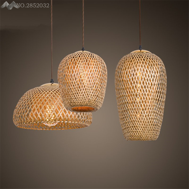 Lfh Southeast Asia Simple Hand Made Pendant Lamp Bamboo Lights For Living Room Restaurant Bedroom