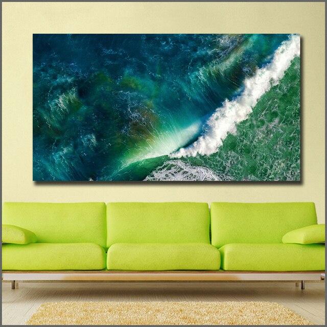 Emerald Wave Canvas Print 2