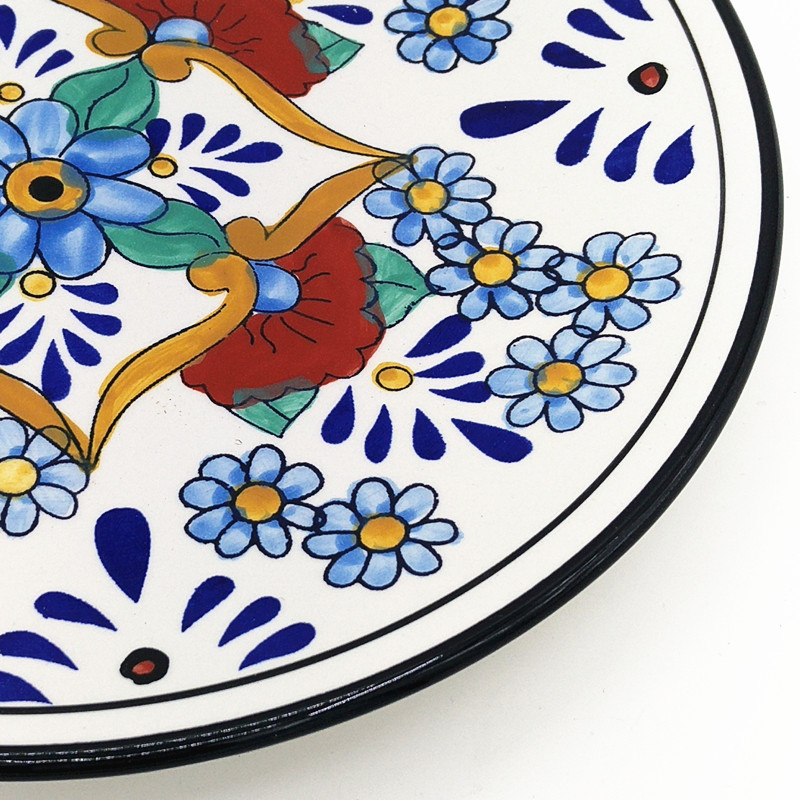 Hand Painted Flower Pattern Ceramic Steak Plate Fast Food Tray Dinner Plate Dishes Restaurant Dinnerware Christmas Gift 1pcs-in Dishes u0026 Plates from Home ...  sc 1 st  AliExpress.com & Hand Painted Flower Pattern Ceramic Steak Plate Fast Food Tray ...